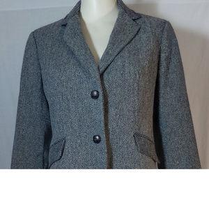 Talbots Women's Tweed Chevron Blazer - Size 10P